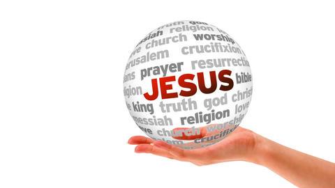 Jesus word Sphere Stock Video Footage
