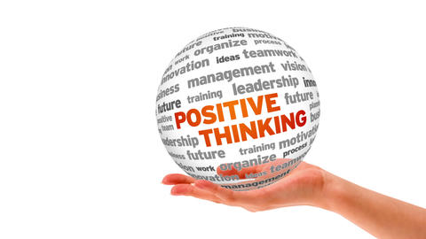 Positive thinking word sphere Stock Video Footage