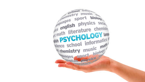 Psychology Word Sphere Animation