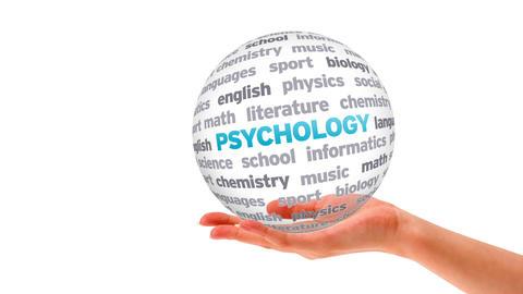 Psychology Word Sphere Stock Video Footage