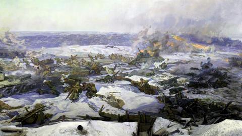 battle near Stalingrad part 2 Stock Video Footage