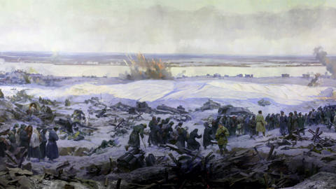 battle near Stalingrad part 4 Stock Video Footage