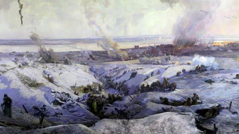 battle near Stalingrad part 6 Stock Video Footage