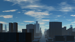 Town and blue sky Stock Video Footage