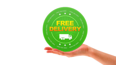 Free Delivery Sign Stock Video Footage