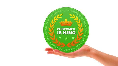 Customer is King Stock Video Footage