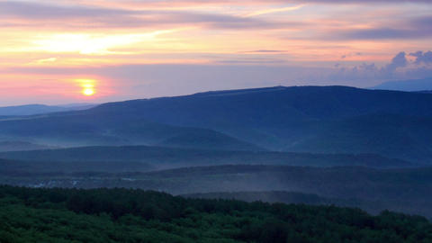 Timelapse sunrise in the mountains. Cave city Bakl Stock Video Footage