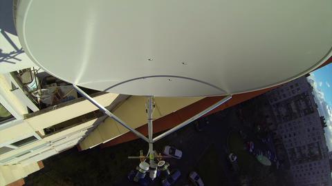 Mobile-satellite aerial, antenna, dish Stock Video Footage