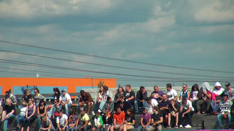 Spectators and supporters Stock Video Footage