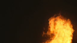 Fire pyre erratic flame Stock Video Footage