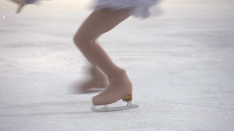 Element of Figure Skating Stock Video Footage