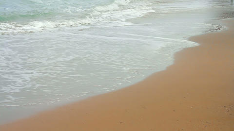 Girl walking on the beach Stock Video Footage