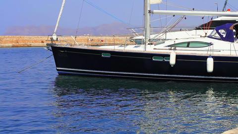 yachts at berth Stock Video Footage