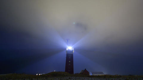 Lighthouse bad weather wide time lapse 11234 Footage