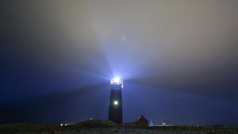 Lighthouse bad weather wide time lapse 11234 Stock Video Footage