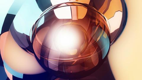 futuristic robotic ball Stock Video Footage