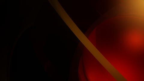 red ball corner with alpha Stock Video Footage