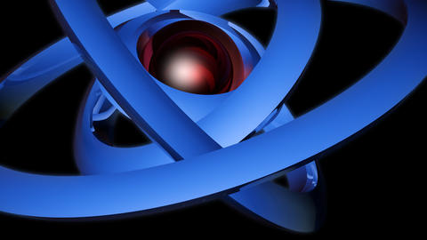 orbital neon sphere with alpha Stock Video Footage