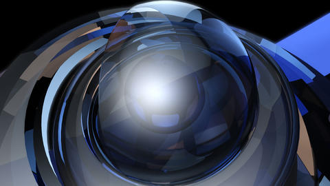 futuristic magic ball with alpha Stock Video Footage