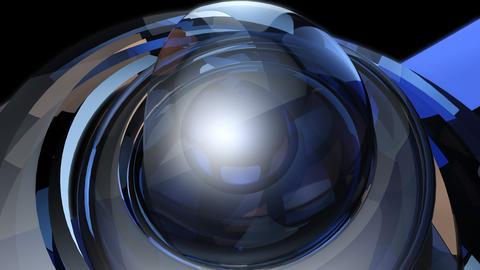 futuristic magic ball with alpha Stock Video Footage