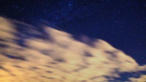 Milky way around the pole star. Time Lapse. 4K Stock Video Footage