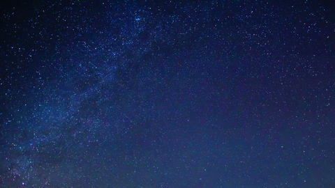 Milky way around the pole star. Time Lapse. 4K Stock Video Footage
