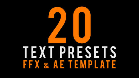 text animated presets After Effectsテンプレート