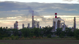 Oil refinery in Bratislava, Slovakia Footage