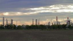 Oil refinery in Bratislava, Slovakia Stock Video Footage
