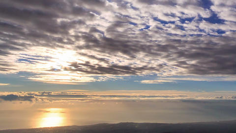 Solar path. Coast of Sicily. Italy. Time Lapse Stock Video Footage