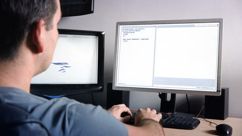 Coder at Work Stock Video Footage