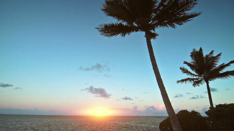 dawn on a tropical island Stock Video Footage