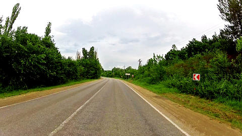 ride on a car Stock Video Footage