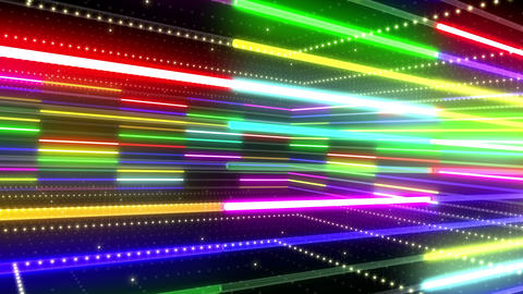 Neon tube R b A 5 HD Stock Video Footage