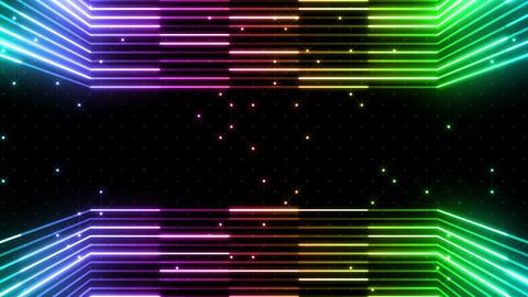 Neon tube R b E 5 HD Stock Video Footage