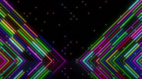 Neon tube R b G 5 HD Stock Video Footage
