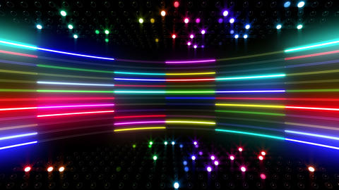 Neon tube R c B 5 HD Stock Video Footage