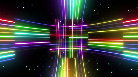Neon tube R c D 5 HD Stock Video Footage