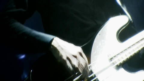 Bass Player playing at a live concert Stock Video Footage