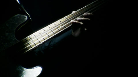 Bass Player playing at a live concert Footage