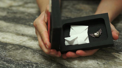 Romantic Heart Box Envelopes Dolly Stock Video Footage