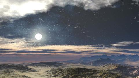 Moonlit night in the desert Animation