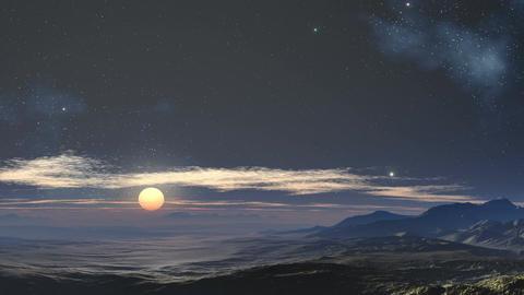 Moonlit night in the desert Stock Video Footage