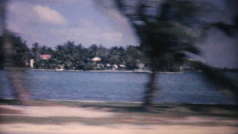 Florida Ocean Beach And Hotel 1961 Vintage 8mm Stock Video Footage