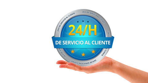 24 hour customer service sign Stock Video Footage