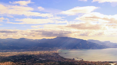 Pompei Valley, view from Mount Vesuvius. Italy Footage