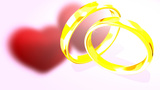 Flowers, Hearts And Rings stock footage