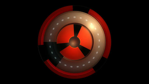 spinning nuclear core Stock Video Footage
