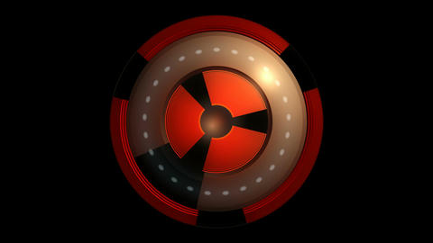 spinning nuclear core Animation