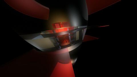 reactor capsule orbit Stock Video Footage
